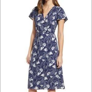 Leith Wrap Dress Navy Peacoat Nouveau Floral